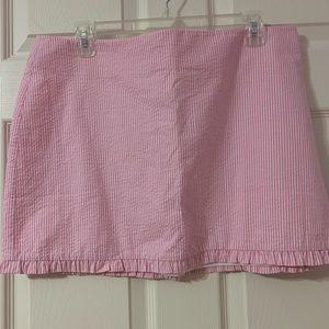 Lilly Pulitzer Seersucker Skirt Size 12 NWOT